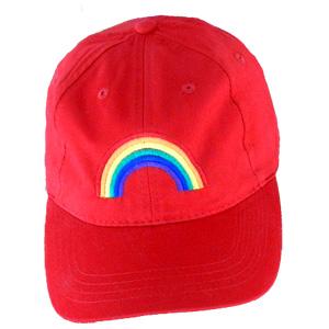 Baseball Hat - Rainbow Arch - Red