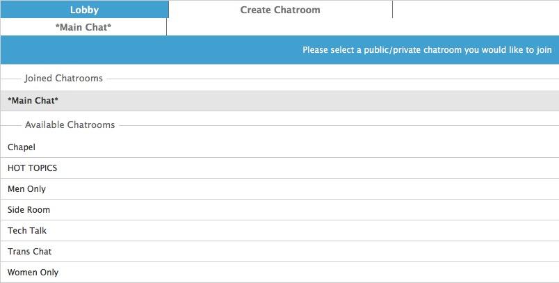 Chat Room Lobby