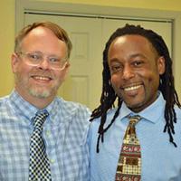 Rev Scott Williamson and partner Joe Curry