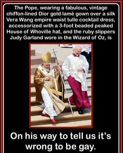 Pope wearing