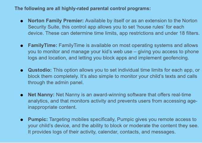 parental control programs
