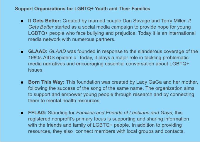GLBT Support Organizations